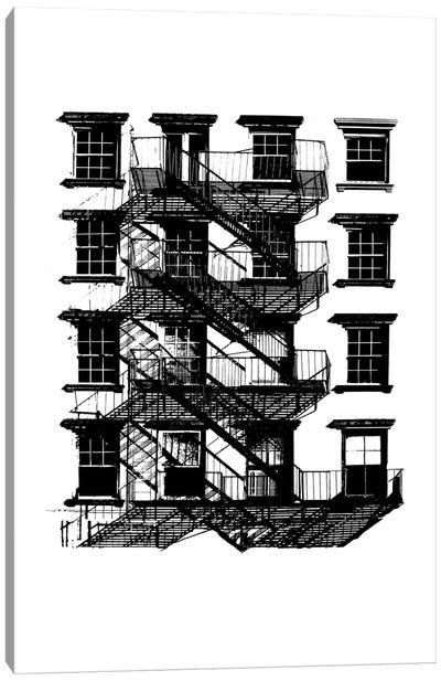 NYC In Pure B&W IX Canvas Art Print