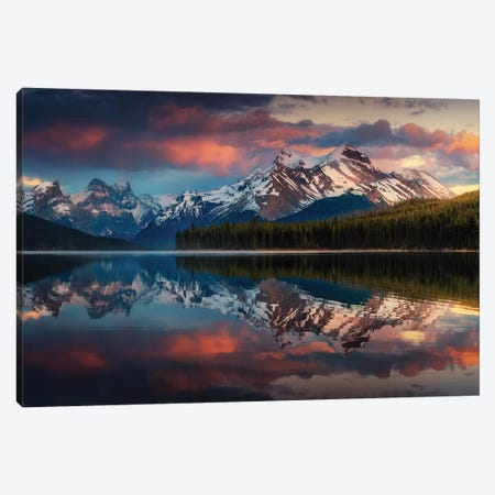 Maligne Color. Canvas Print #JPM15} by Juan Pablo de Miguel Canvas Artwork
