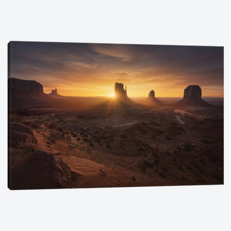 Monument Sunrise. Canvas Print #JPM17} by Juan Pablo de Miguel Canvas Art