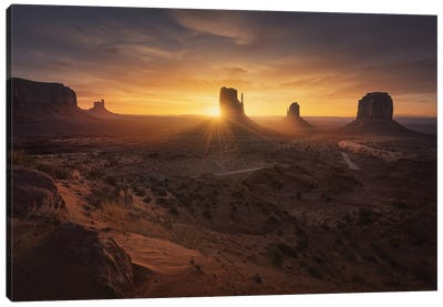 Monument Sunrise. Canvas Art Print