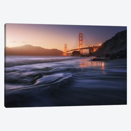 Golden Beach Canvas Print #JPM1} by Juan Pablo de Miguel Canvas Wall Art