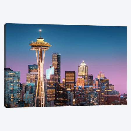 Pink Seattle. Canvas Print #JPM20} by Juan Pablo de Miguel Canvas Artwork