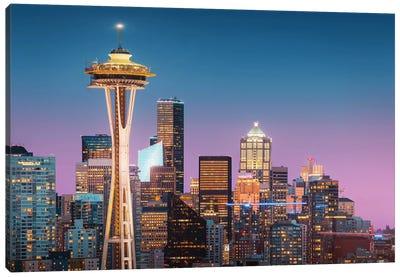 Pink Seattle. Canvas Art Print