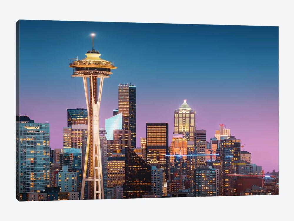 Pink Seattle. by Juan Pablo de Miguel 1-piece Canvas Artwork