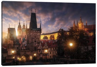 Prague Sun. Canvas Art Print