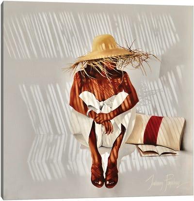 Straw Hat. Canvas Art Print