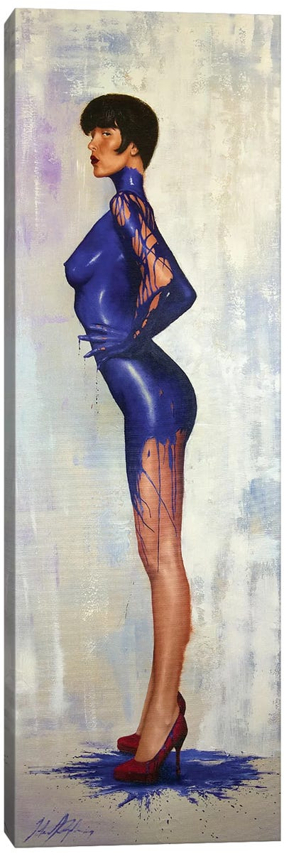 Dressed In Blue Canvas Art Print
