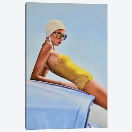 Moments Before A Swim Canvas Print #JPO34} by Johnny Popkess Canvas Artwork