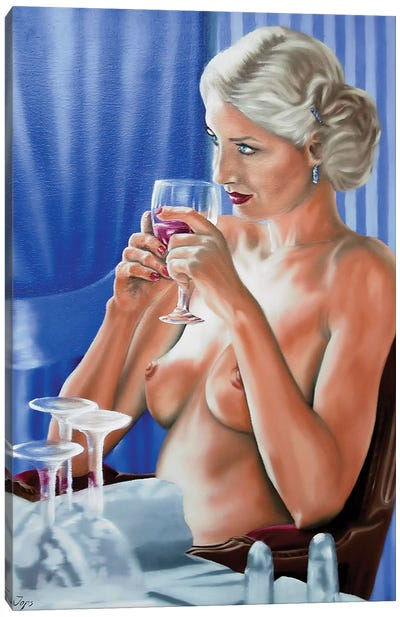 Parisian Breakfast Canvas Art Print