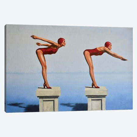 Preparation, Posture, And Poise Canvas Print #JPO37} by Johnny Popkess Canvas Art