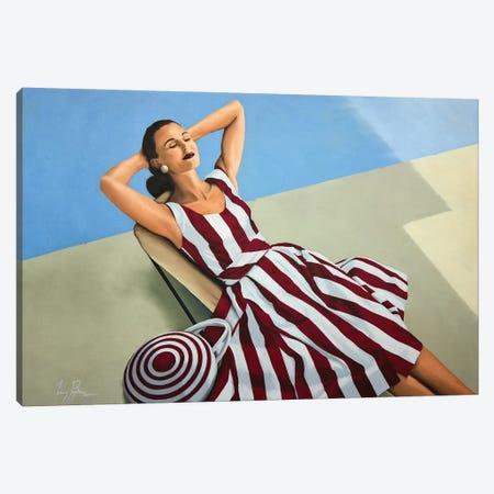 Strawberries and Cream Canvas Print #JPO42} by Johnny Popkess Canvas Art