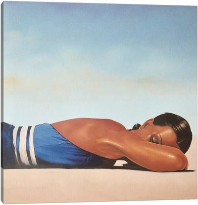 Sunbather Canvas Art Print
