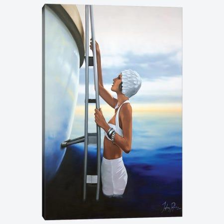 An Evening Dip Canvas Print #JPO4} by Johnny Popkess Art Print