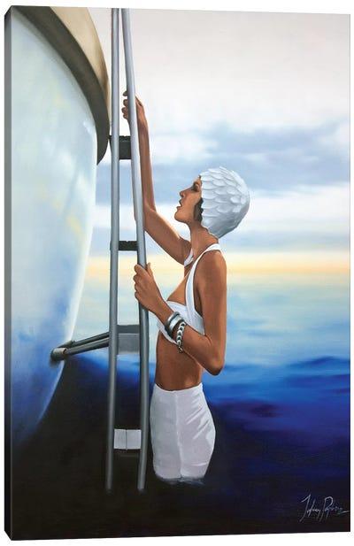 An Evening Dip Canvas Art Print