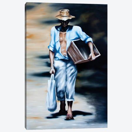 The Grape Picker Canvas Print #JPO52} by Johnny Popkess Canvas Print