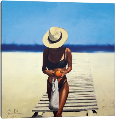 The Orange Seller Canvas Art Print