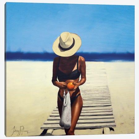 The Orange Seller Canvas Print #JPO56} by Johnny Popkess Canvas Art