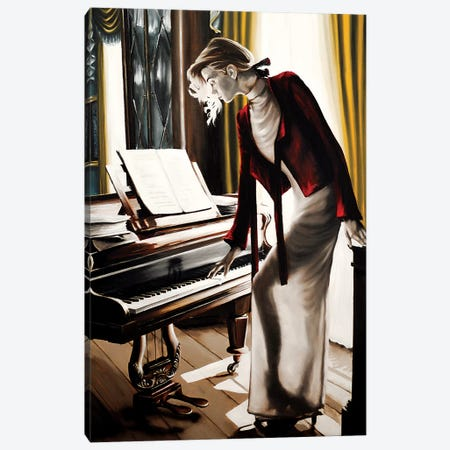 The Pianist Canvas Print #JPO57} by Johnny Popkess Canvas Wall Art