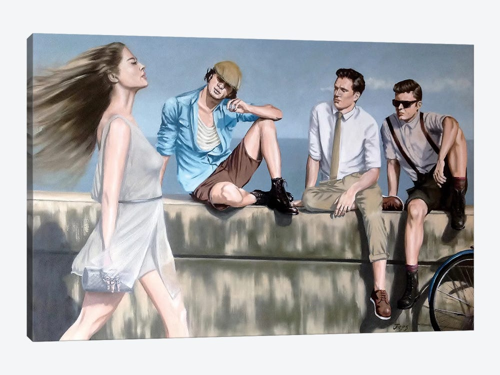 The Viewing Gallery by Johnny Popkess 1-piece Canvas Art