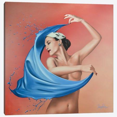 A Splash Of Blue Canvas Print #JPO70} by Johnny Popkess Canvas Art Print
