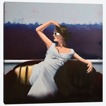 The Solitary Sightseer Canvas Print #JPO80} by Johnny Popkess Canvas Wall Art