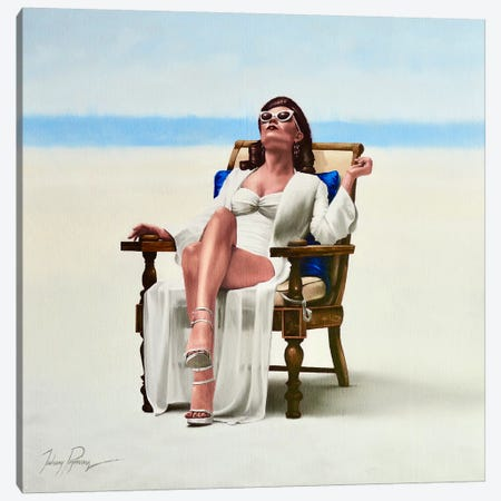 Beach Bum Canvas Print #JPO82} by Johnny Popkess Canvas Artwork