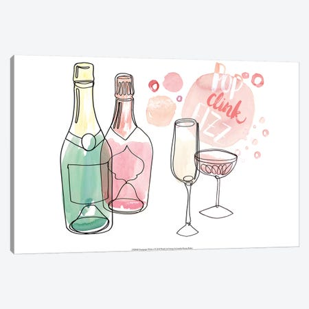Champagne Wishes  I Canvas Print #JPP105} by Jennifer Paxton Parker Canvas Artwork