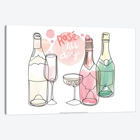 Champagne Wishes  II Canvas Print #JPP106} by Jennifer Paxton Parker Canvas Art