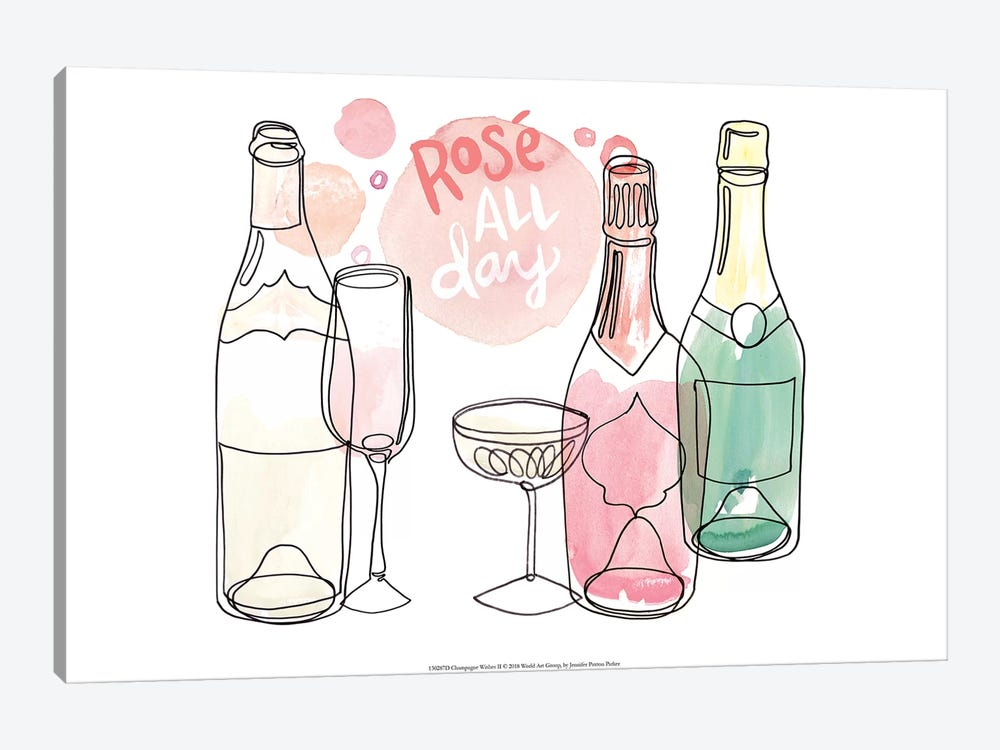 Champagne Wishes  II by Jennifer Paxton Parker 1-piece Art Print