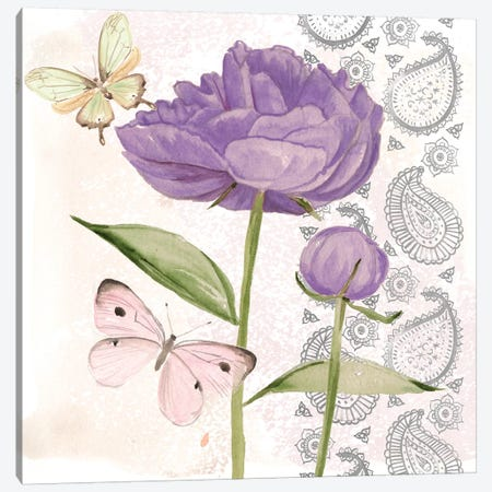 Flowers & Lace IV Canvas Print #JPP118} by Jennifer Paxton Parker Canvas Art
