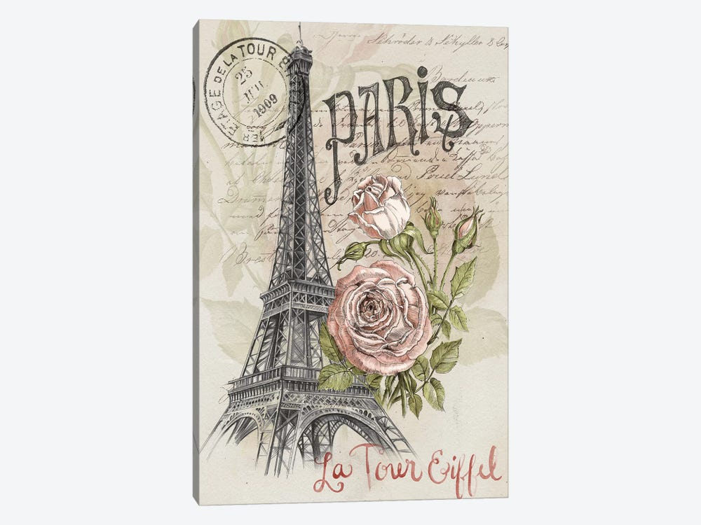 Paris Sketchbook I by Jennifer Paxton Parker 1-piece Canvas Art