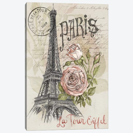 Paris Sketchbook I Canvas Print #JPP11} by Jennifer Paxton Parker Canvas Wall Art