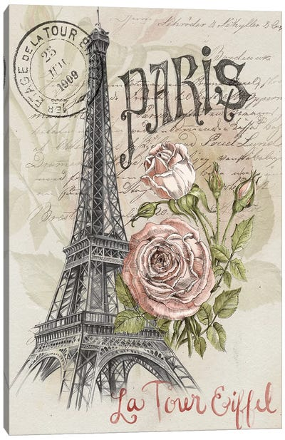 Paris Sketchbook I Canvas Art Print