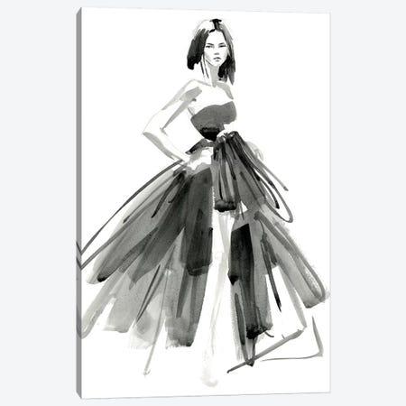 Gestural Evening Gown I 3-Piece Canvas #JPP123} by Jennifer Paxton Parker Canvas Art Print
