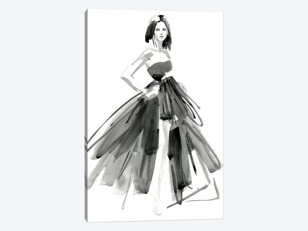 Gestural Evening Gown I by Jennifer Paxton Parker 1-piece Canvas Artwork