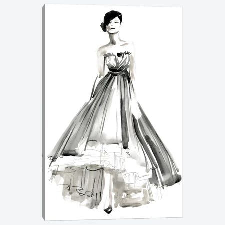 Gestural Evening Gown II Canvas Print #JPP124} by Jennifer Paxton Parker Canvas Artwork