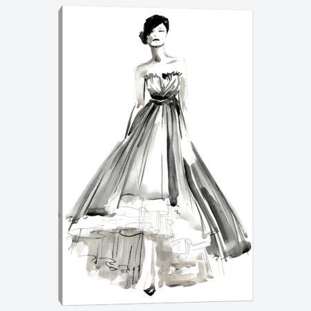 Gestural Evening Gown II Canvas Print #JPP124} by Jennifer Paxton Parker Canvas Artwork
