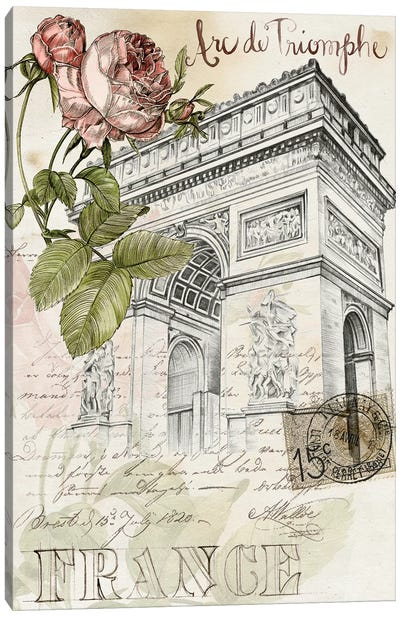 Paris Sketchbook II Canvas Art Print