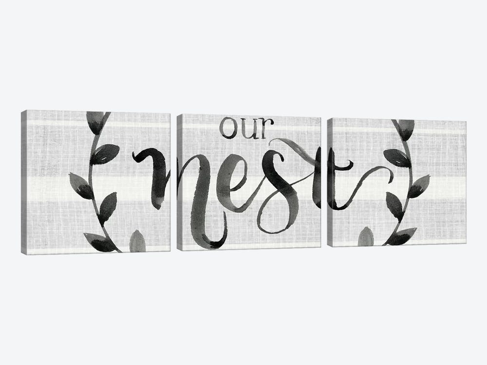 Our Nest is Blessed I by Jennifer Paxton Parker 3-piece Canvas Art Print