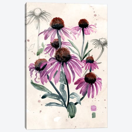 Purple Wildflowers I 3-Piece Canvas #JPP135} by Jennifer Paxton Parker Canvas Print