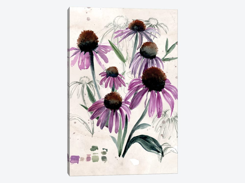 Purple Wildflowers II by Jennifer Paxton Parker 1-piece Canvas Artwork