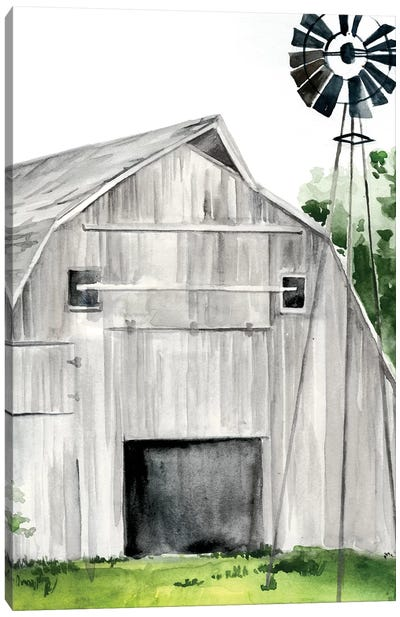 Weathered Barn II Canvas Art Print