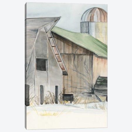 Winter Barn II Canvas Print #JPP158} by Jennifer Paxton Parker Canvas Wall Art
