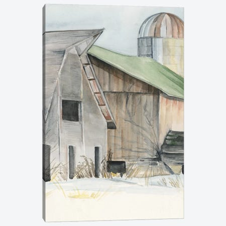 Winter Barn II Canvas Print #JPP158} by Jennifer Paxton Parker Canvas Wall Art