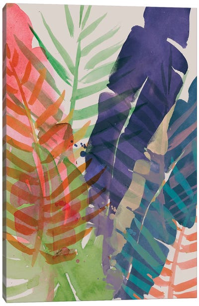 Electric Palms I Canvas Art Print