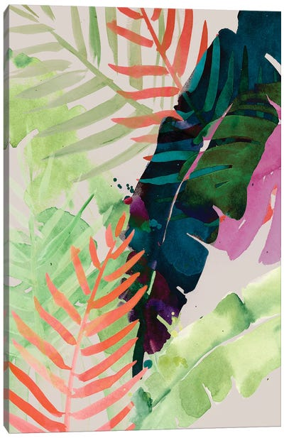 Electric Palms II Canvas Art Print
