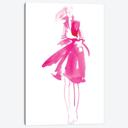 Fuchsia Street Fashion I Canvas Print #JPP163} by Jennifer Paxton Parker Art Print