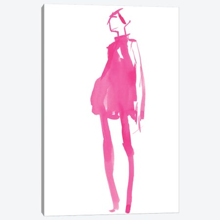 Fuchsia Street Fashion II Canvas Print #JPP164} by Jennifer Paxton Parker Canvas Wall Art