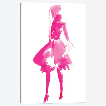 Fuchsia Street Fashion IV Canvas Print #JPP166} by Jennifer Paxton Parker Canvas Artwork