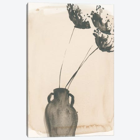Grey Garden Vase I Canvas Print #JPP171} by Jennifer Paxton Parker Canvas Wall Art